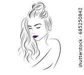 vector sketch of a beautiful...   Shutterstock .eps vector #685250842