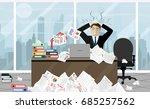 stress at work concept flat... | Shutterstock .eps vector #685257562