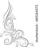 ornamental floral corner.... | Shutterstock .eps vector #685264372