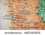 closeup selective focus of... | Shutterstock . vector #685265005