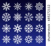 collection of vector snowflakes ... | Shutterstock .eps vector #685272112