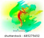 artificial hindu god lord... | Shutterstock .eps vector #685275652