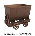 Mining Cart Isolated. 3d...