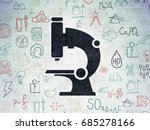 science concept  painted black... | Shutterstock . vector #685278166