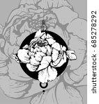 freehand ink flower sketch.... | Shutterstock .eps vector #685278292