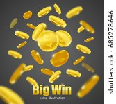 big win business investment... | Shutterstock .eps vector #685278646