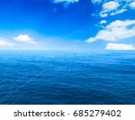 beautiful sky and blue ocean | Shutterstock . vector #685279402