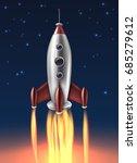 metallic space rocket launch... | Shutterstock .eps vector #685279612