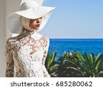 outdoor fashion photo of young... | Shutterstock . vector #685280062