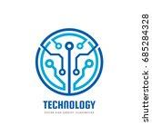 technology   vector logo... | Shutterstock .eps vector #685284328
