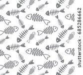 fish bone vector pattern on...   Shutterstock .eps vector #685286662