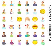 user icons set  cartoon style | Shutterstock .eps vector #685287946