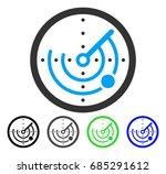 radar flat vector pictograph....   Shutterstock .eps vector #685291612