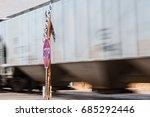 rail cars carrying bulk freight ... | Shutterstock . vector #685292446