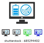 remote battery monitoring flat... | Shutterstock .eps vector #685294402