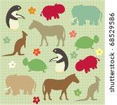 seamless pattern for kids ... | Shutterstock .eps vector #68529586