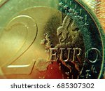 europe on the two euro coin the ... | Shutterstock . vector #685307302