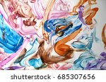 abstract art by finger painting ... | Shutterstock . vector #685307656