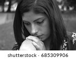 woman sad | Shutterstock . vector #685309906