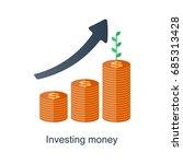compound interest concept. time ... | Shutterstock .eps vector #685313428