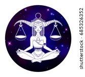 libra zodiac sign  horoscope... | Shutterstock .eps vector #685326352