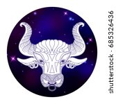 taurus zodiac sign  horoscope... | Shutterstock .eps vector #685326436