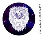 leo zodiac sign  horoscope... | Shutterstock .eps vector #685326496