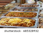 catering buffet food dish with...   Shutterstock . vector #685328932