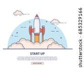 rocket launch.cartoon...   Shutterstock .eps vector #685329166