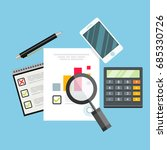 auditor work desk  accounting... | Shutterstock .eps vector #685330726
