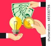 hands holds money  hand holds... | Shutterstock .eps vector #685330756