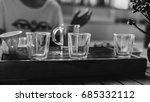 a tea cup in female hands... | Shutterstock . vector #685332112