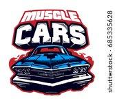 muscle car. logo. vector...   Shutterstock .eps vector #685335628