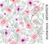 watercolor seamless pattern...   Shutterstock . vector #685345078