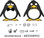 cute hipster penguin baby... | Shutterstock .eps vector #685348942