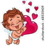 angel smiling happily   Shutterstock . vector #68535409