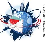 global e mail concept. all... | Shutterstock .eps vector #68535451