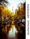 amsterdam canal | Shutterstock . vector #685358356