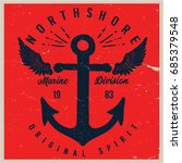 vintage nautical graphics and... | Shutterstock .eps vector #685379548