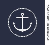 anchor emblem with circular... | Shutterstock .eps vector #685391932