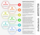 infographic template with steps ... | Shutterstock . vector #685393708