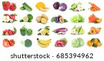 fruits and vegetables... | Shutterstock . vector #685394962