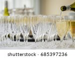 champagne and glasses | Shutterstock . vector #685397236