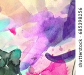 watercolor abstract background. ... | Shutterstock . vector #685398256