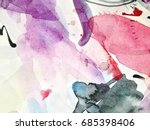 watercolor abstract background. ... | Shutterstock . vector #685398406