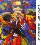 Colorful Abstract Jazz Trumpet...