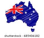 australian flag map icon hand... | Shutterstock .eps vector #685406182