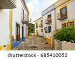 village street with residential ...   Shutterstock . vector #685410052