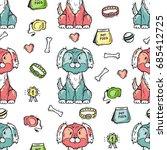 pet shop vector background.... | Shutterstock .eps vector #685412725