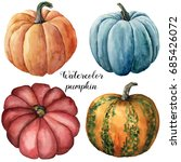 watercolor pumpkins. hand...   Shutterstock . vector #685426072